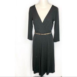 Black Ann Taylor Loft, V-Neck Dress.